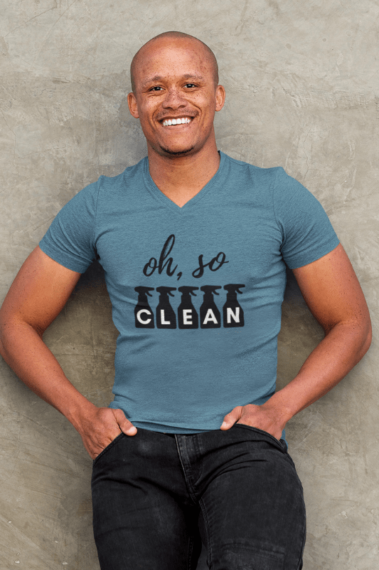 Oh So Clean, Savvy Cleaner Funny Cleaning Shirts, Premium V-Neck T-Shirt