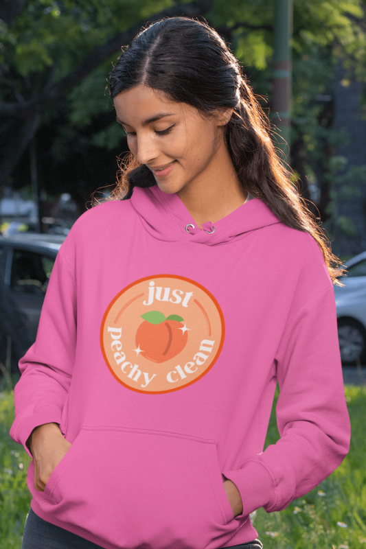 Peachy Clean Savvy Cleaner Funny Cleaning Shirts Classic Pullover Hoodie