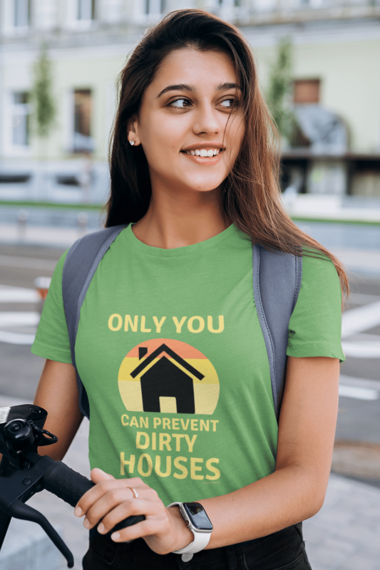 Prevent Dirty Houses Savvy Cleaner Funny Cleaning Shirts Women's Standard T-Shirt