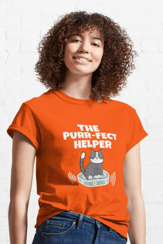 Purr-fect Helper Savvy Cleaner Funny Cleaning Shirts Classic Tee