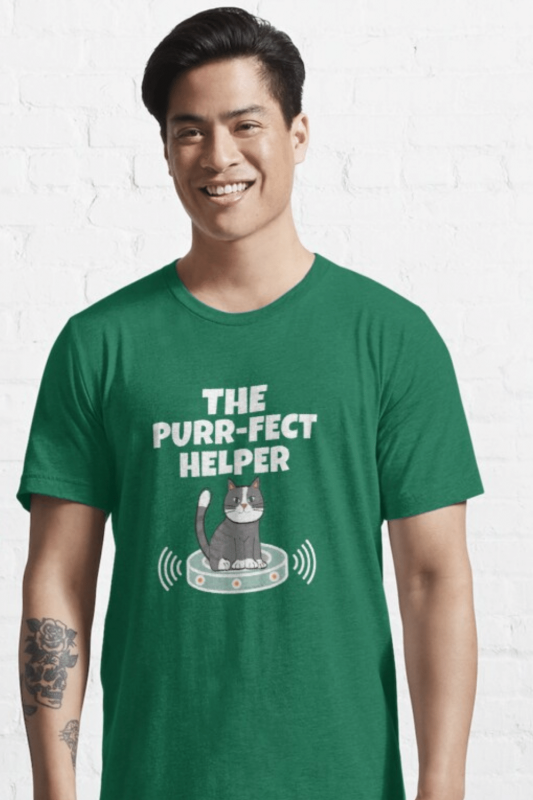 Purr-fect Helper Savvy Cleaner Funny Cleaning Shirts Essential Tee