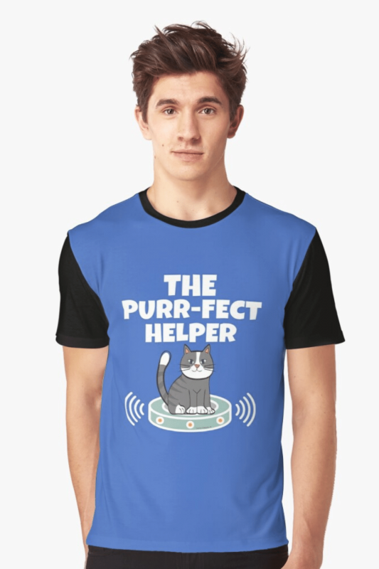 Purr-fect Helper Savvy Cleaner Funny Cleaning Shirts Graphic Tee