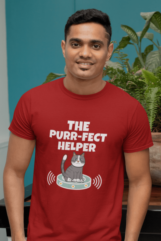 Purr-fect Helper Savvy Cleaner Funny Cleaning Shirts Men's Standard T-Shirt