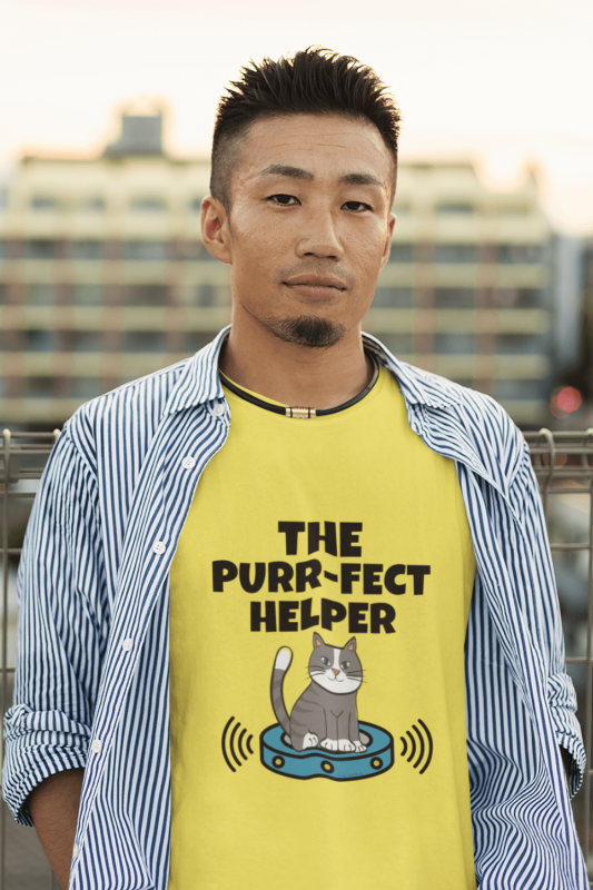 Purr-fect Helper Savvy Cleaner Funny Cleaning Shirts Men's Standard Tee