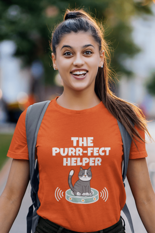 Purr-fect Helper Savvy Cleaner Funny Cleaning Shirts Women's Standard T-Shirt