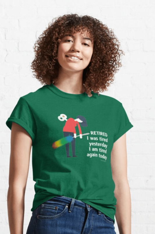Retired Savvy Cleaner Funny Cleaning Shirts Classic T-Shirt