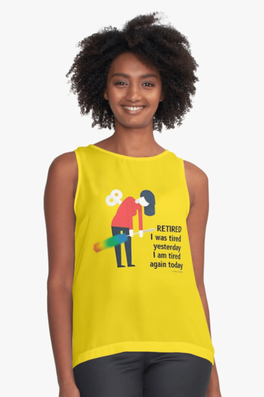 Retired Savvy Cleaner Funny Cleaning Shirts Sleeveless Top