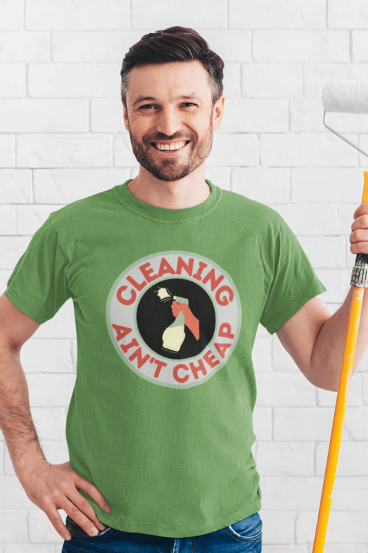 Retro Cleaning Ain't Cheap Savvy Cleaner Funny Cleaning Shirts Men's Standard Tee