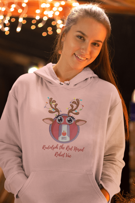 Rudolph the Red Nosed Robot Vac, Savvy Cleaner Funny Cleaning Shirts, Classic Pullover Hoodie
