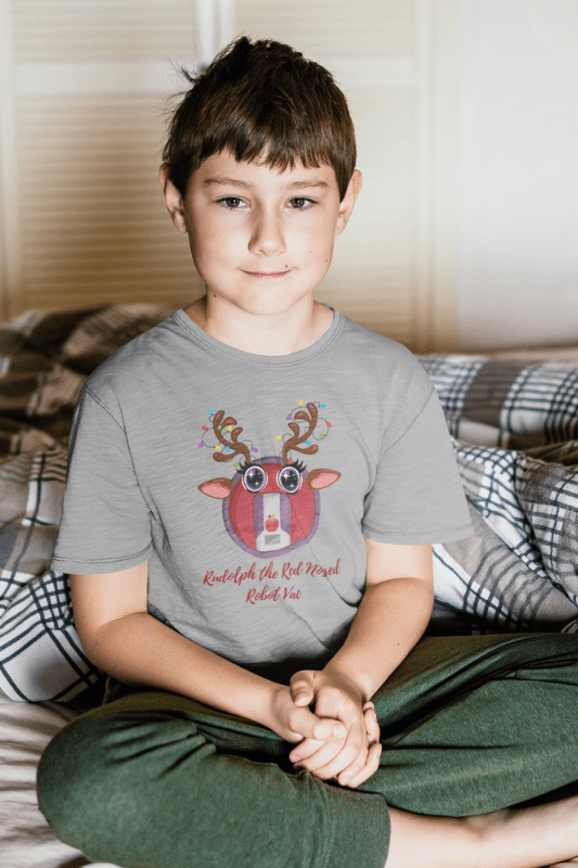 Rudolph the Red Nosed Robot Vac, Savvy Cleaner Funny Cleaning Shirts, Kids Premium T-Shirt