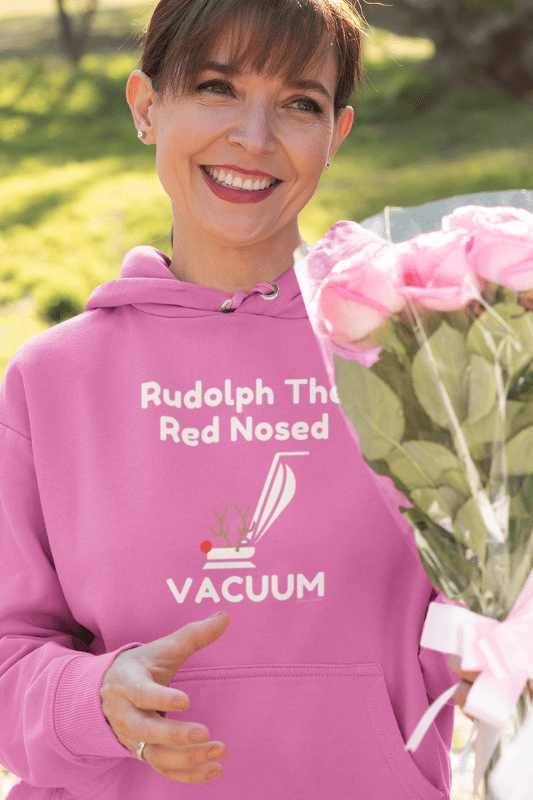Rudolph the Red Nosed Vacuum, Savvy Cleaner Funny Cleaning Shirts, Classic Pullover Hoodie