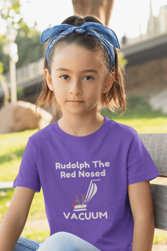 Rudolph the Red Nosed Vacuum, Savvy Cleaner Funny Cleaning Shirts, Kids Premium T-Shirt