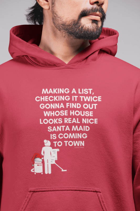 Santa Maid, Savvy Cleaner Funny Cleaning Shirts, Classic Pullover Hoodie