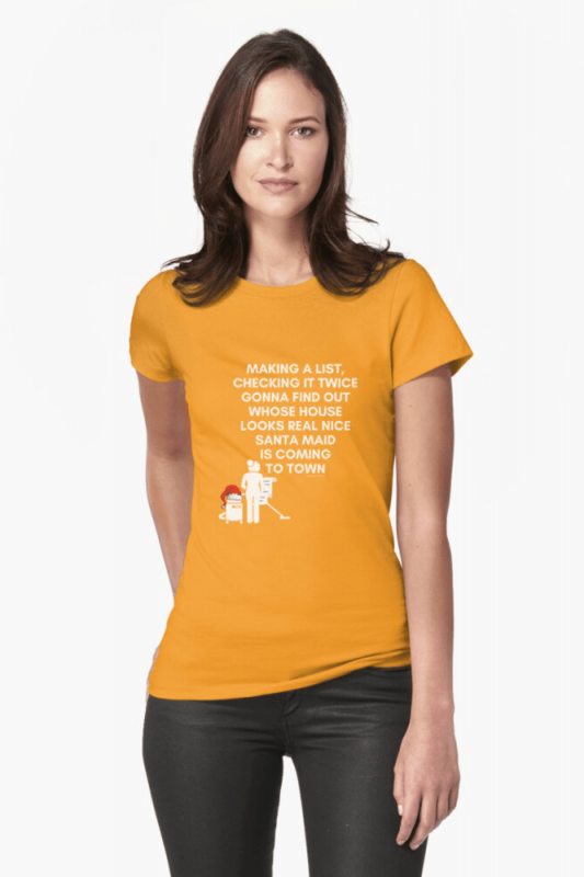 Santa Maid, Savvy Cleaner Funny Cleaning Shirts, Fitted shirt