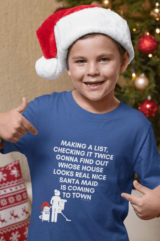Santa Maid, Savvy Cleaner Funny Cleaning Shirts, Kids Premium T-Shirt