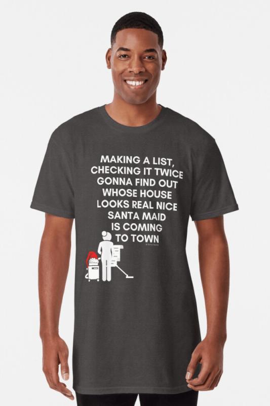 Santa Maid, Savvy Cleaner Funny Cleaning Shirts, Long Shirt