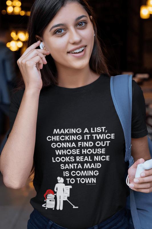Santa Maid, Savvy Cleaner Funny Cleaning Shirts, Standard t-shirt