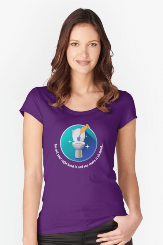 Shake it All About Savvy Cleaner Funny Cleaning Shirts Fitted Scoop T-Shirt
