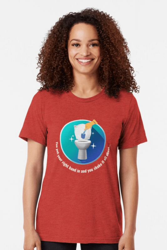 Shake it All About Savvy Cleaner Funny Cleaning Shirts Triblend Tee
