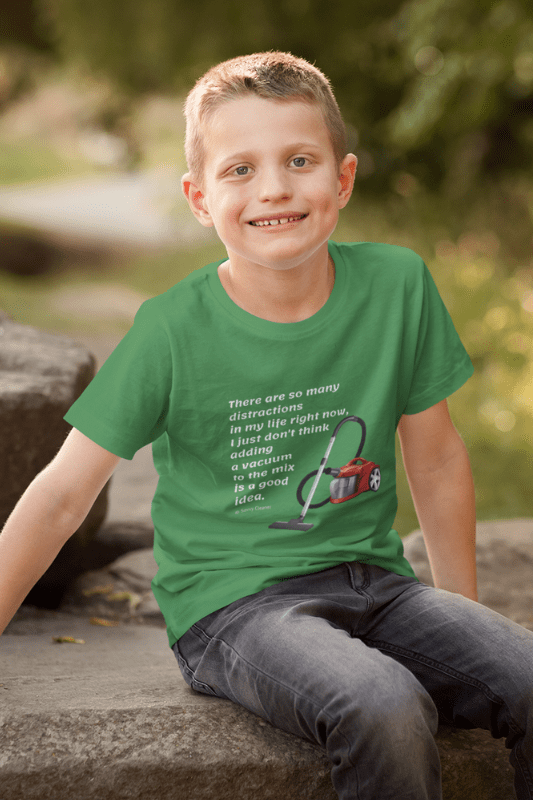 So Many Distractions, Savvy Cleaner Funny Cleaning Shirts, Kids Premium T-Shirt