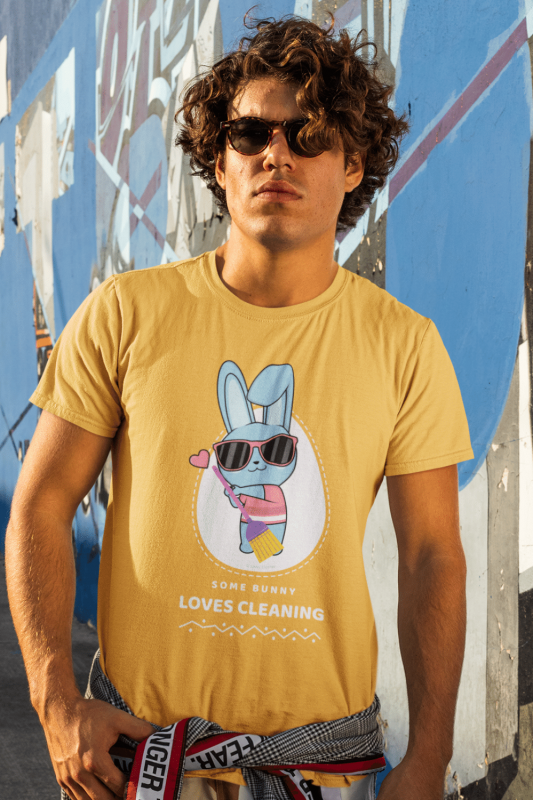Some Bunny Loves Cleaning Savvy Cleaner Funny Cleaning Shirts Premium Tee