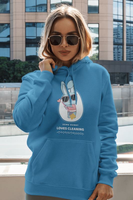 Some Bunny Loves Cleaning Savvy Cleaner Funny Cleaning Shirts Pullover Hoodie