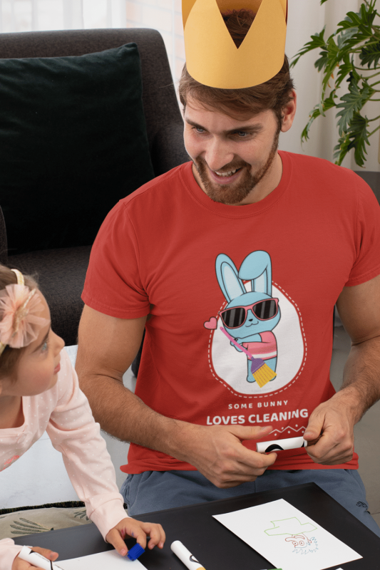 Some Bunny Loves Cleaning Savvy Cleaner Funny Cleaning Shirts Standard T-Shirt