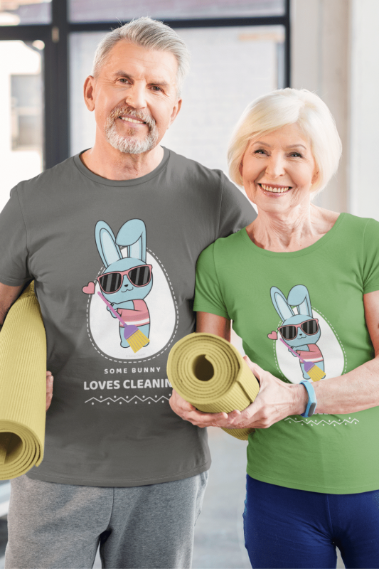 Some Bunny Loves Cleaning Savvy Cleaner Funny Cleaning Shirts Standard Tee