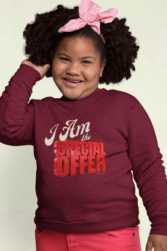 Special Offer, Savvy Cleaner Funny Cleaning Shirts, Kids Crewneck Sweatshirt