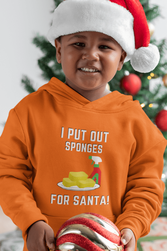 Sponges for Santa, Savvy Cleaner Funny Cleaning Shirts, Kids Classic Pullover Hoodie
