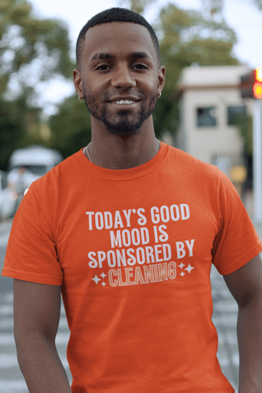 Sponsored by Cleaning Savvy Cleaner Funny Cleaning Shirts Comfort Tee