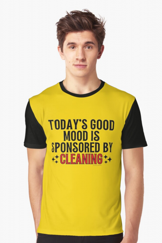 Sponsored by Cleaning Savvy Cleaner Funny Cleaning Shirts Graphic Tee