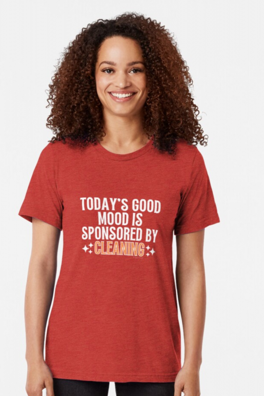 Sponsored by Cleaning Savvy Cleaner Funny Cleaning Shirts Triblend Tee