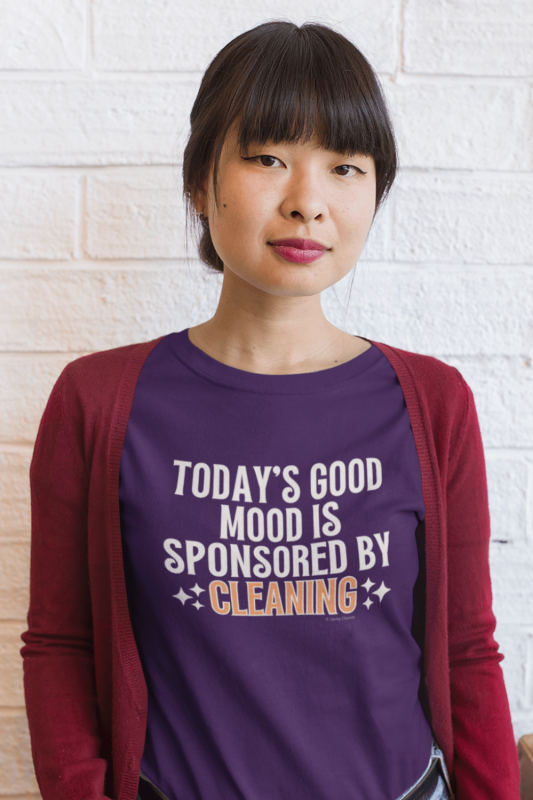 Sponsored by Cleaning Savvy Cleaner Funny Cleaning Shirts Women's Standard Tee