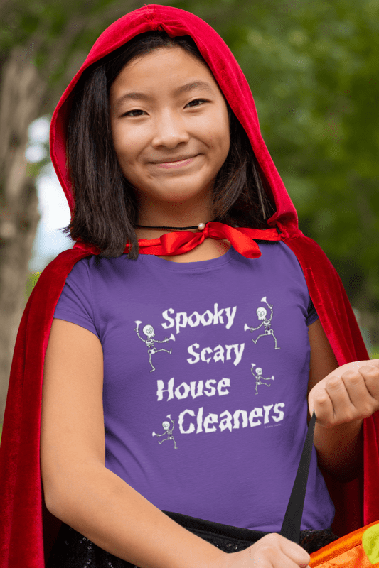 Spooky House Cleaners Savvy Cleaner Funny Cleaning Shirts Kids Premium T-Shirt