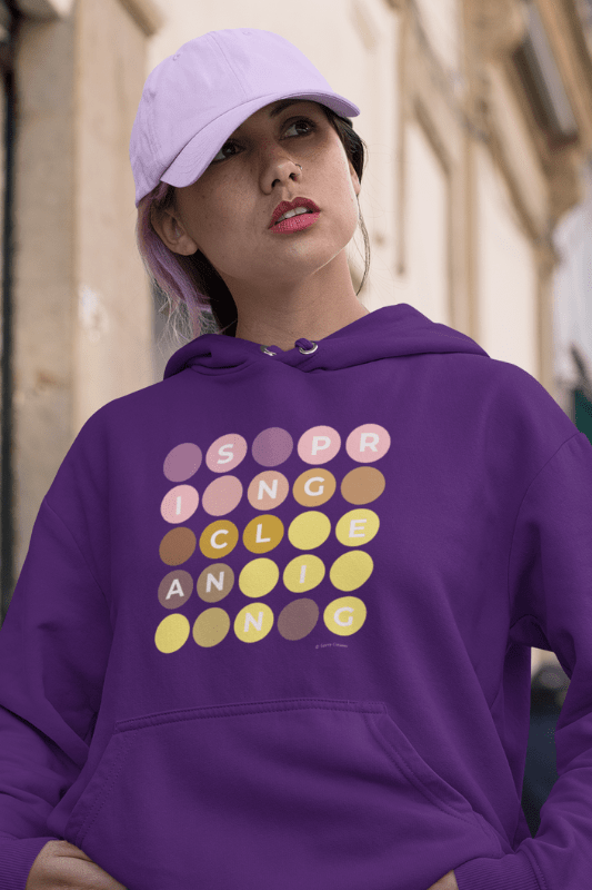 Spring Cleaning, Savvy Cleaner Funny Cleaning Shirts, Classic Pullover Hoodie