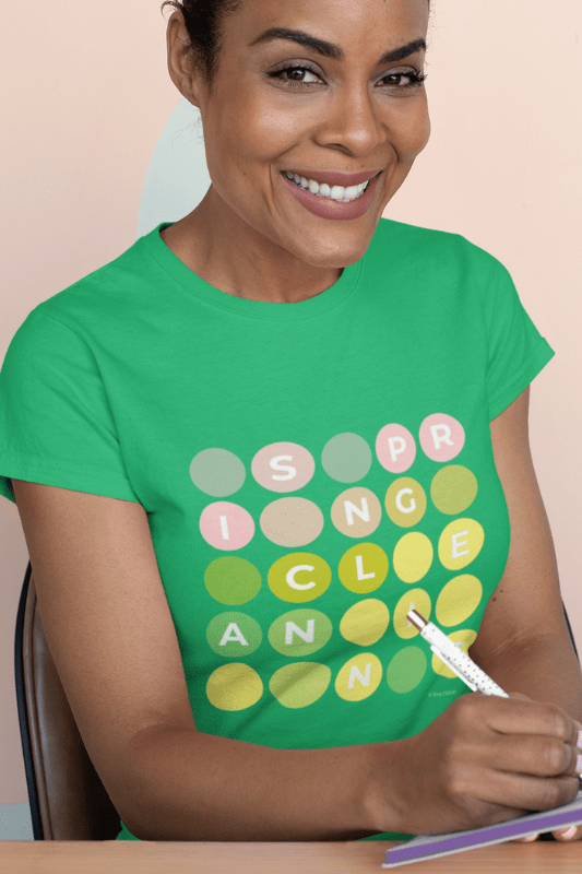 Spring Cleaning, Savvy Cleaner Funny Cleaning Shirts, Women's Boyfriend T-Shirt