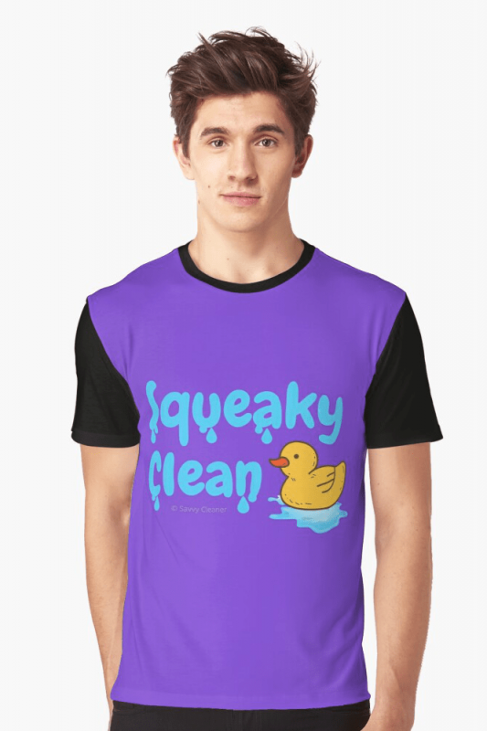 Squeaky Clean, Savvy Cleaner Funny Cleaning Shirts, Graphic shirt