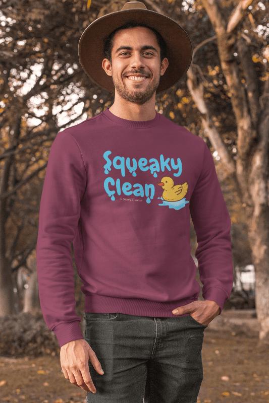 Squeaky Clean, Savvy Cleaner Sweatshirt, Man in Maroon