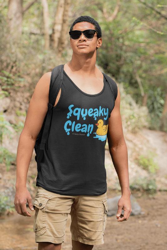 Squeaky Clean, Savvy Cleaner Tank-Top, Man in Black