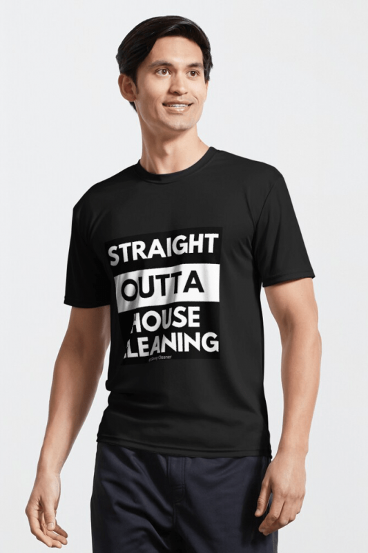 Straight Outta House Cleaning, Savvy Cleaner Funny Cleaning Shirts, Active Shirt