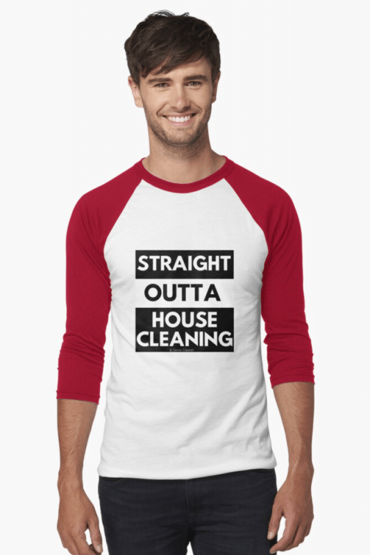 Straight Outta House Cleaning, Savvy Cleaner Funny Cleaning Shirts, Baseball Shirt
