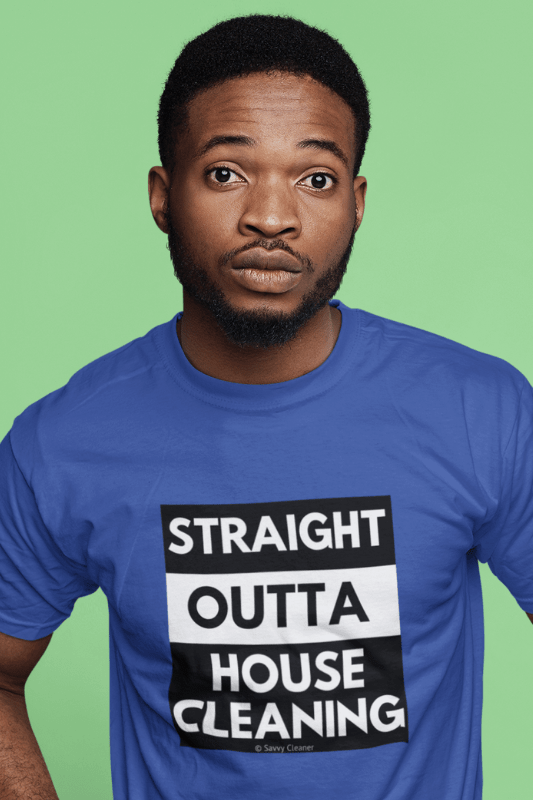 Straight Outta House Cleaning, Savvy Cleaner Funny Cleaning Shirts, Classic T-Shirt