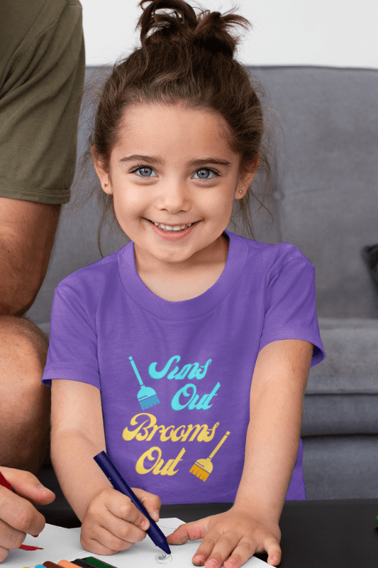 Suns Out Brooms Out, Savvy Cleaner Funny Cleaning Shirts, Kids Premium T-Shirt