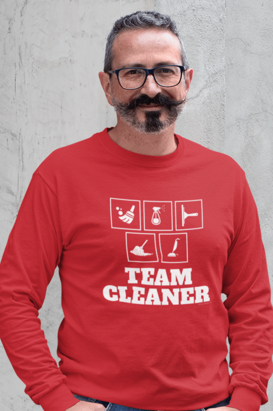 Team Cleaner Savvy Cleaner Funny Cleaning Shirts Classic Long Sleeve Tee