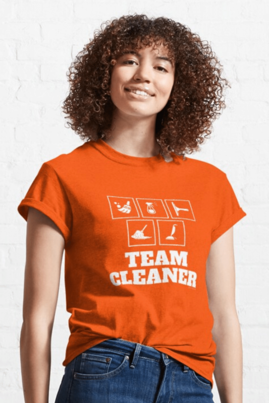 Team Cleaner Savvy Cleaner Funny Cleaning Shirts Classic Tee