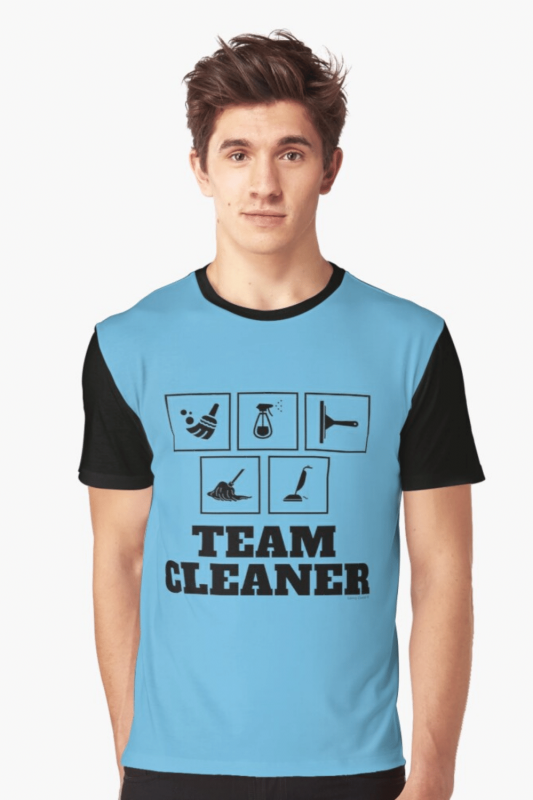 Team Cleaner Savvy Cleaner Funny Cleaning Shirts Graphic Tee
