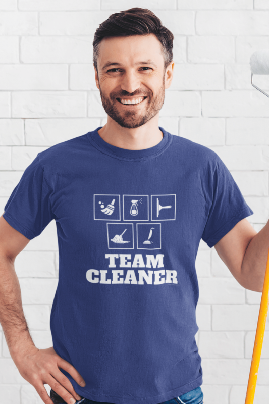 Team Cleaner Savvy Cleaner Funny Cleaning Shirts Men's Standard Tee