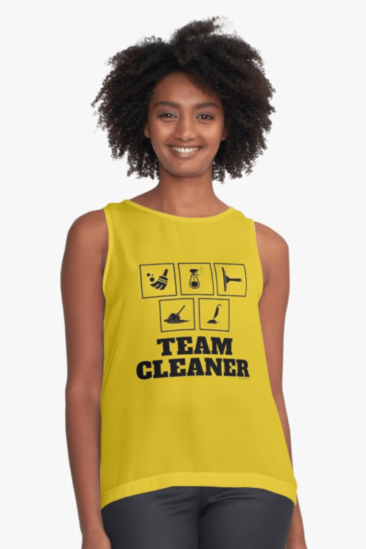 Team Cleaner Savvy Cleaner Funny Cleaning Shirts Sleeveless TOp