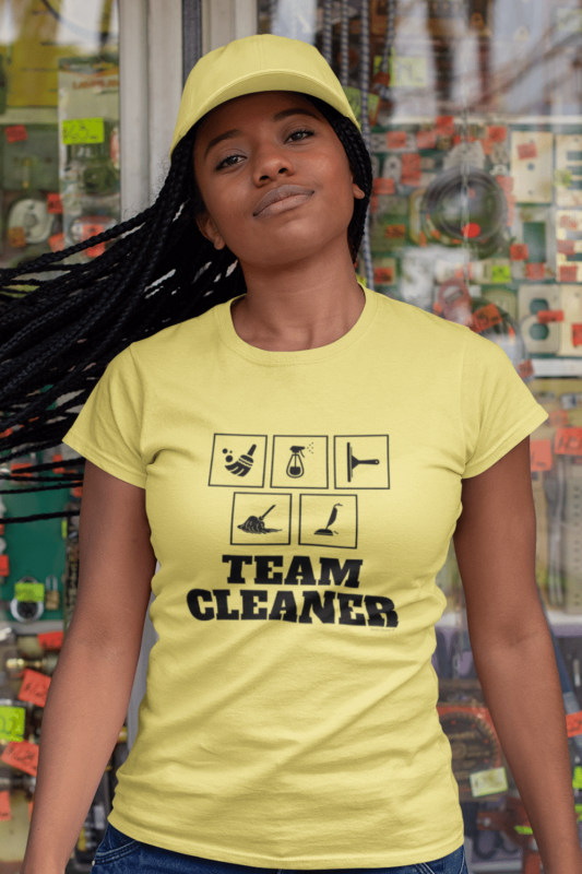 Team Cleaner Savvy Cleaner Funny Cleaning Shirts Standard T-Shirt